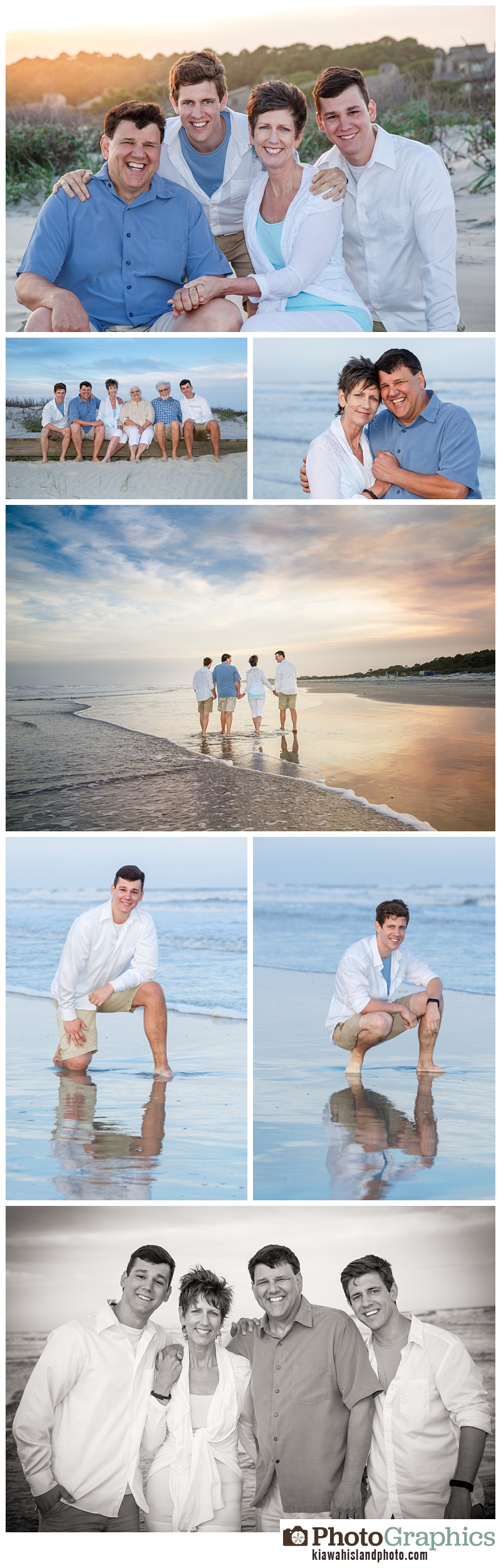 family photos on Kiawah Island beach