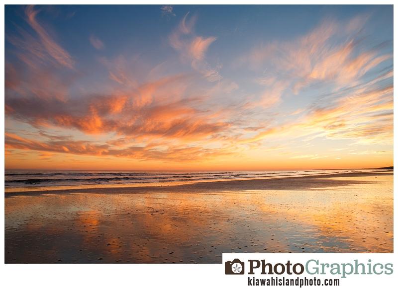 sunset over the atlantic ocean on kiawah island south carolina