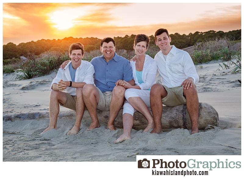 golden hour family photography beach kiawah island