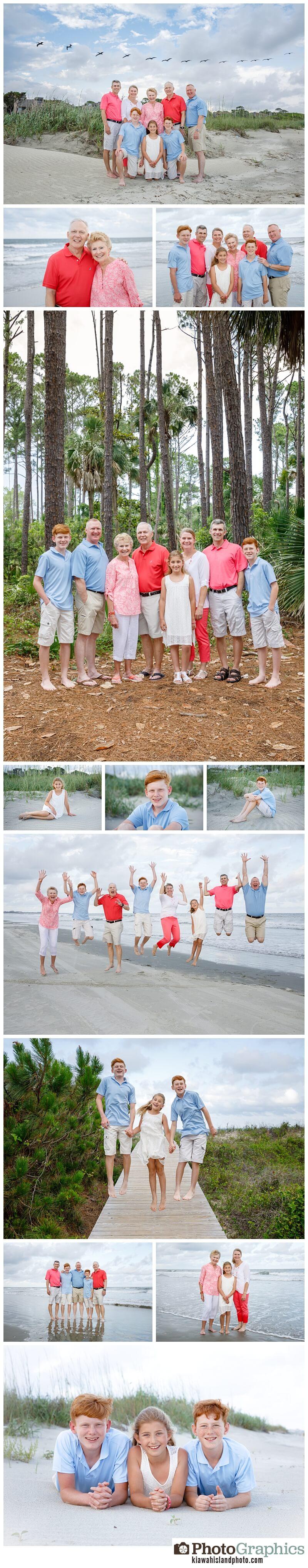 family photos on Kiawah Island extended family 50th wedding anniversary