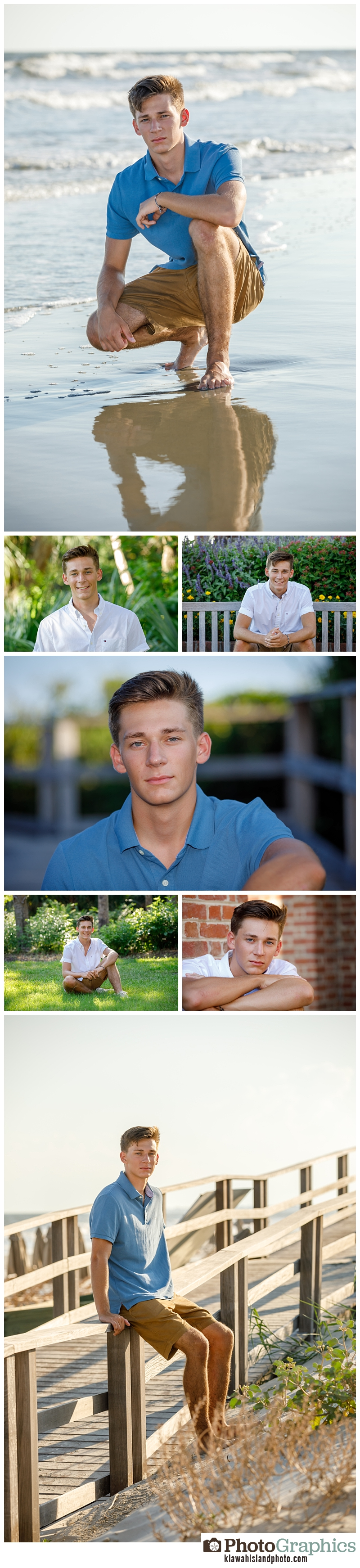 senior portraits on kiawah island male senior 12 grade