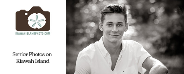 senior photos young man black and white kiawah island photography