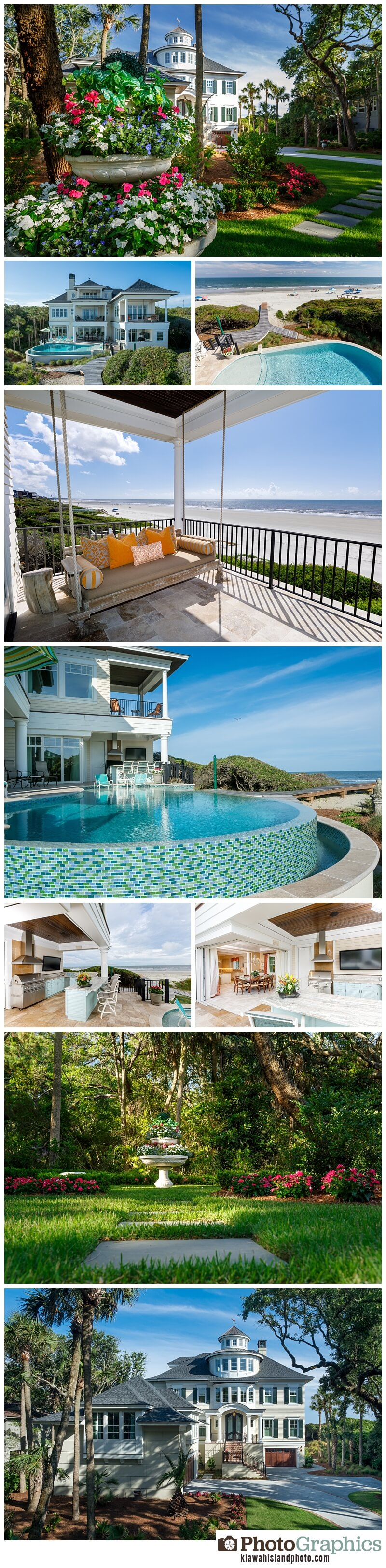 real estate photography on kiawah island exterior photos front and back of house ocean front views