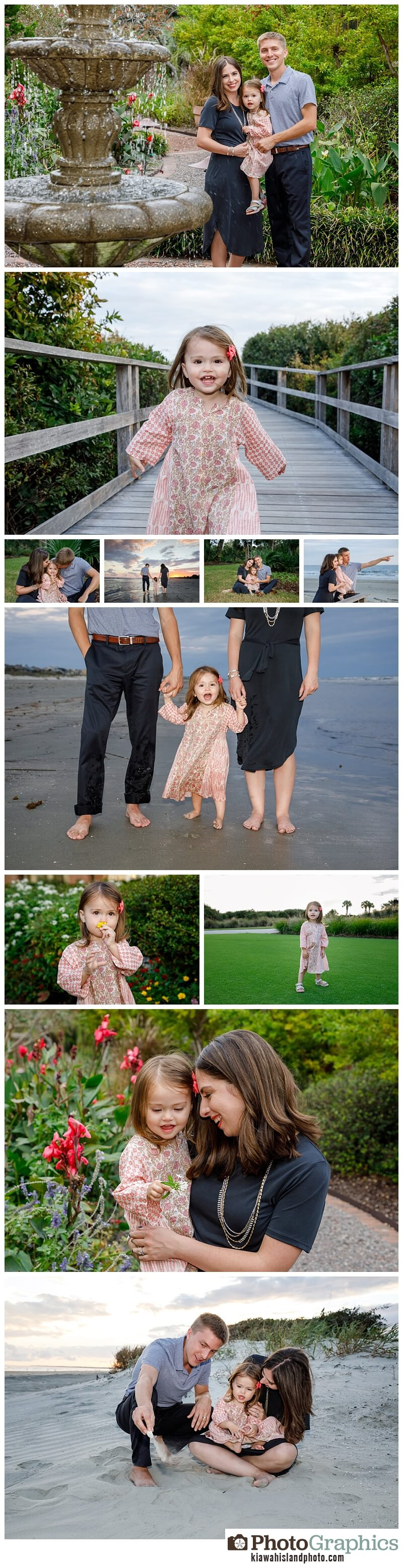 family of three photos on kiawah island