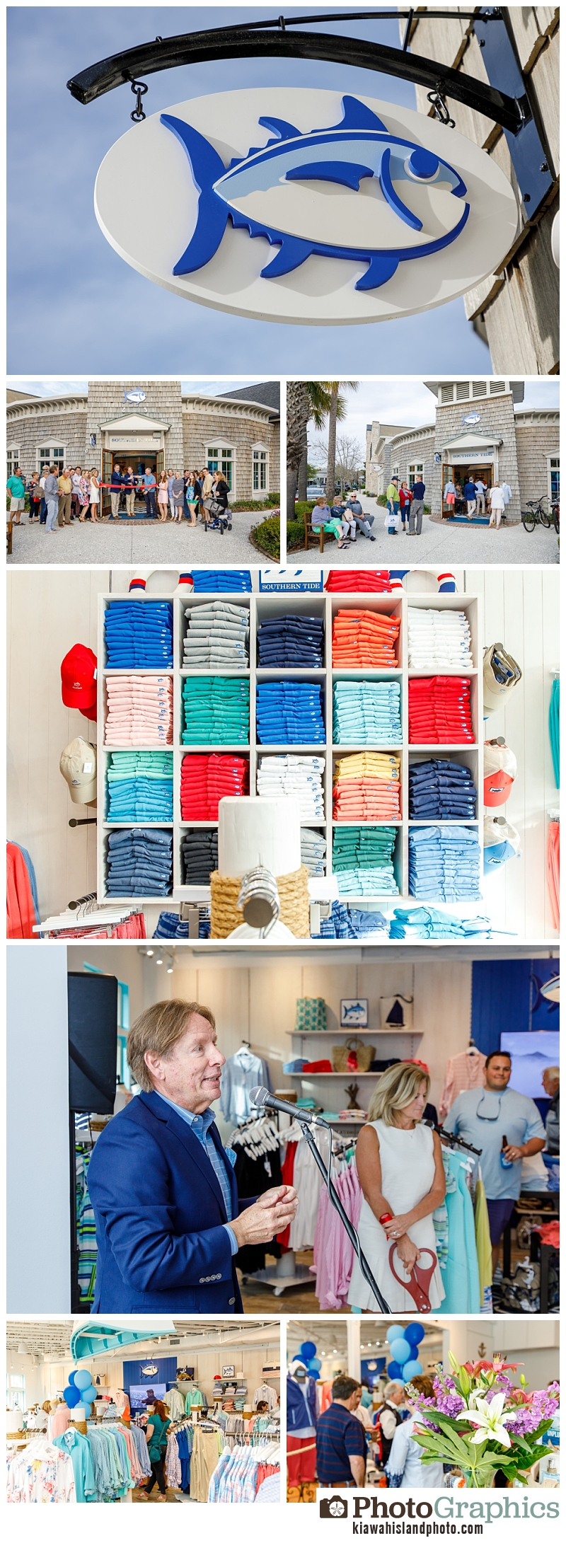 event photography for Southern Tide in Freshfields Village on Kiawah Island South Carolina