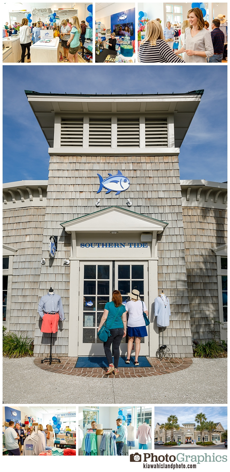 grand opening event of Southern Tide in Freshfields Village on Kiawah Island