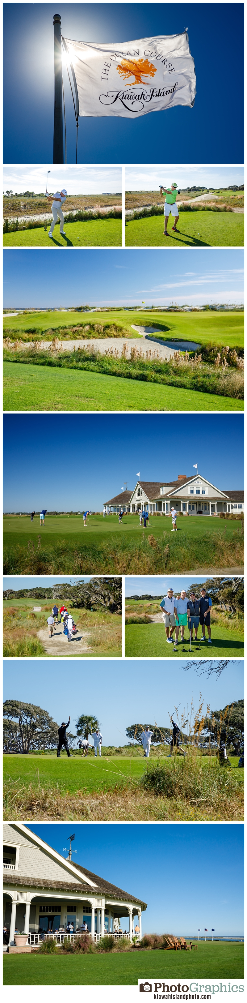 event photography Kiawah Island Golf Resort at the Ocean Course. group golfing together