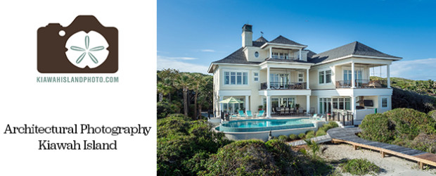 architectural photography on kiawah island - beachfront home with pool