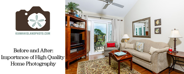 why high quality home photography is important for selling homes. before and after images. dining room in seabrook island