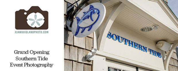 southern tide store front for grand opening event photography kiawah island