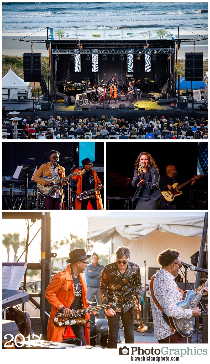 Outdoor performances at Weekend of Jazz Charleston, event photography