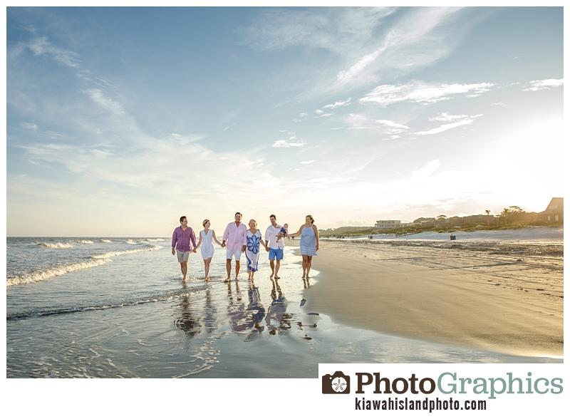 Family walking on beach, Kiawah Island Photogrpaher, family portraits