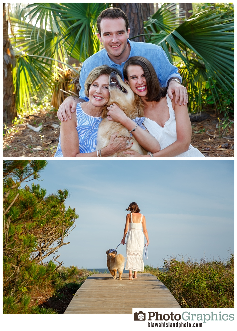 Dog and his humans, Kiawah Island Photo