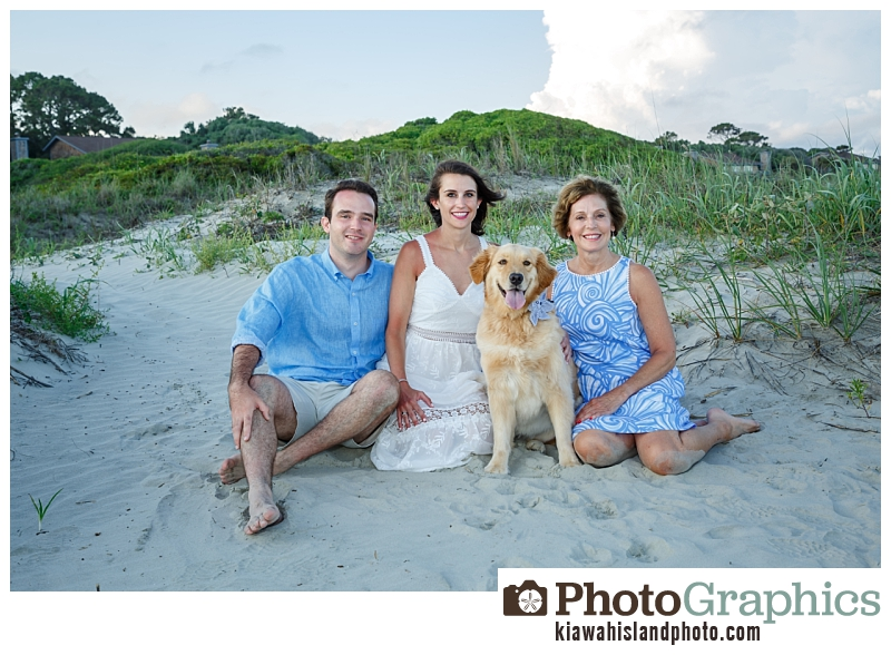 Family at the beach sitting in the sand, Kiawah Island Family Photos