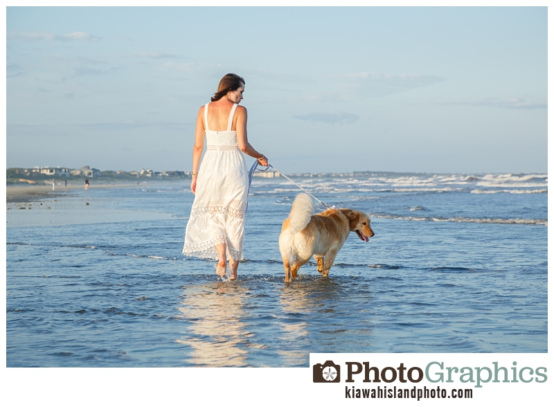 Girl walking on beach, Kiawah Island Photos