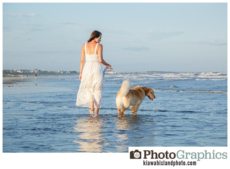 Girl walking on beach, Kiawah Island Photos