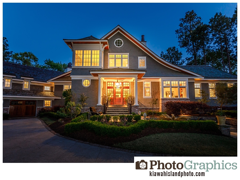 Front of home on Kiawah Island, Twilight Photography Kiawah Island