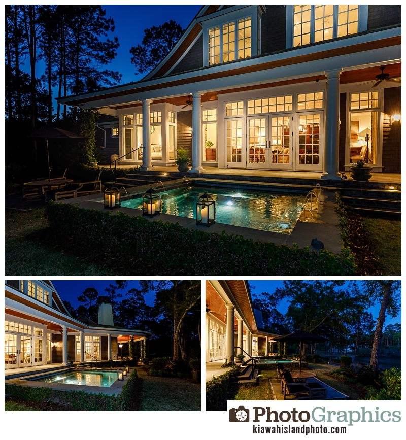 Outside of a home during twilight on Kiawah Island for Real Estate Company