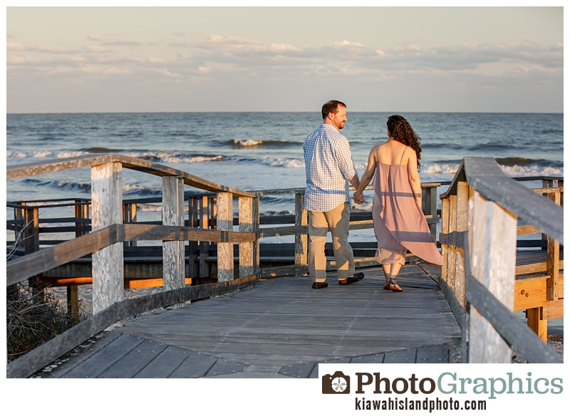 Boardwalk at the beach on Kiawah Island