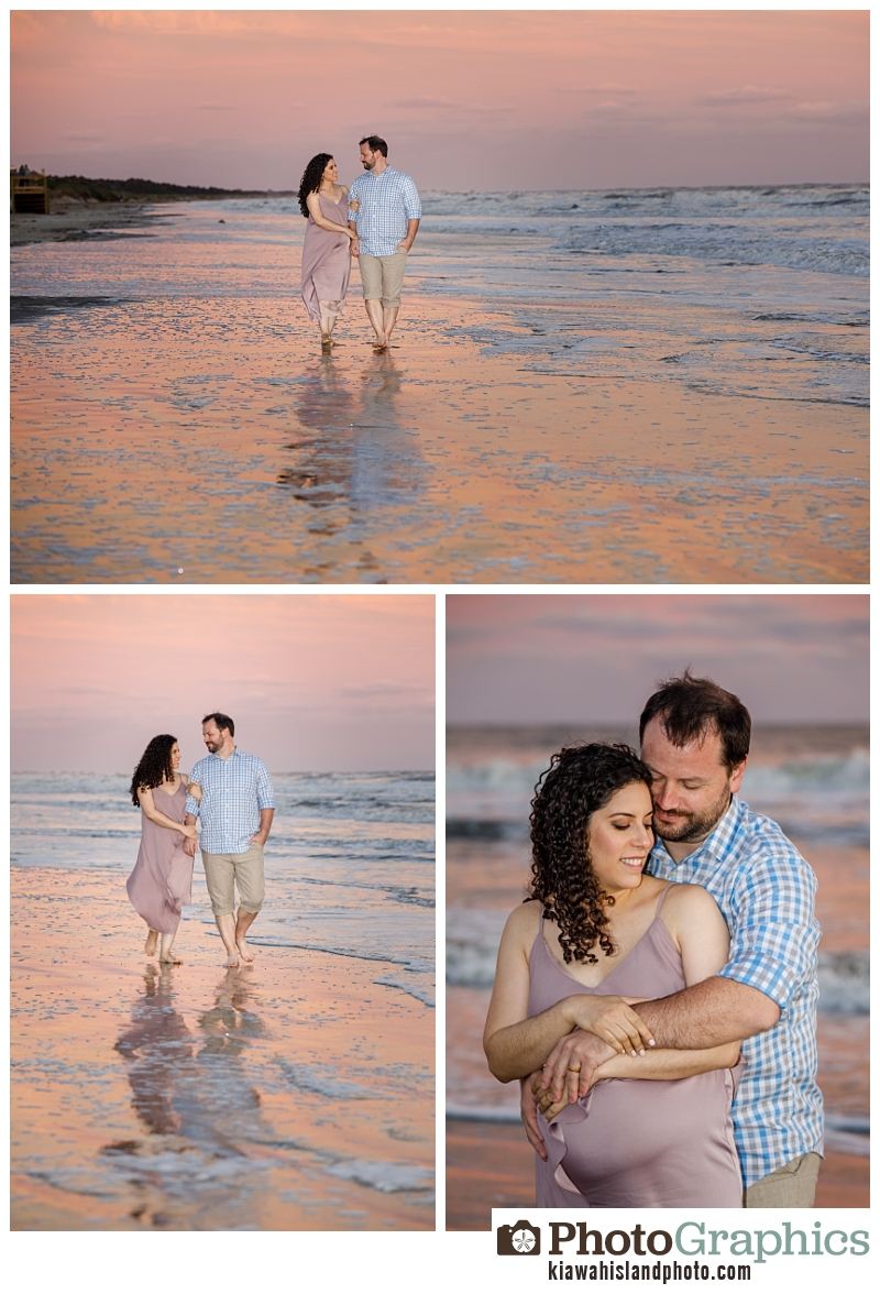 Sunset at Kiawah Island, couple / bump / maternity photos Kiawah Island