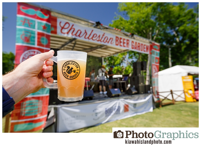 Beer at the Charleston Beer Garden - Event Photography