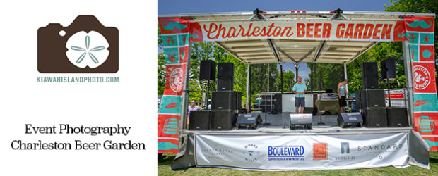 Stage at Charleston Beer Garden Event Photography