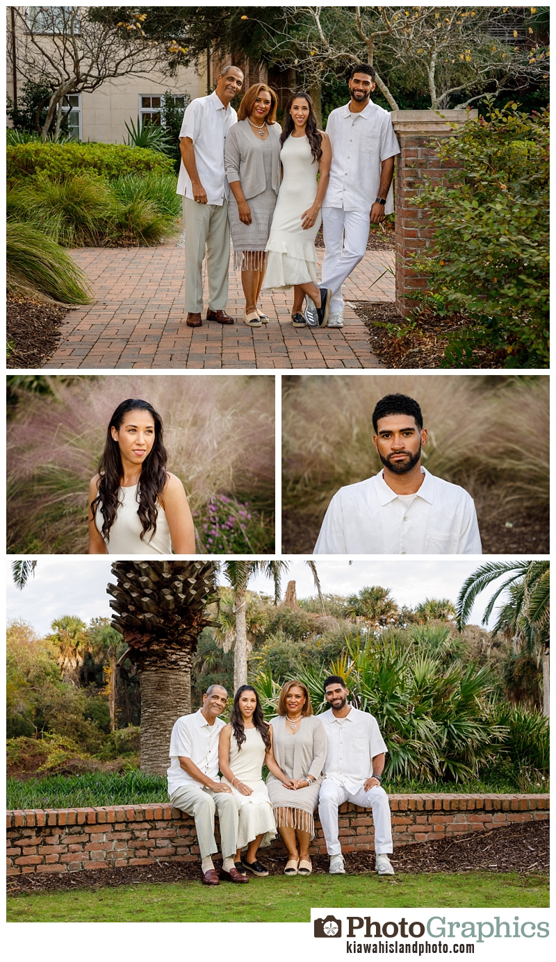 Family at the resort on Kiawah Island for family portraits