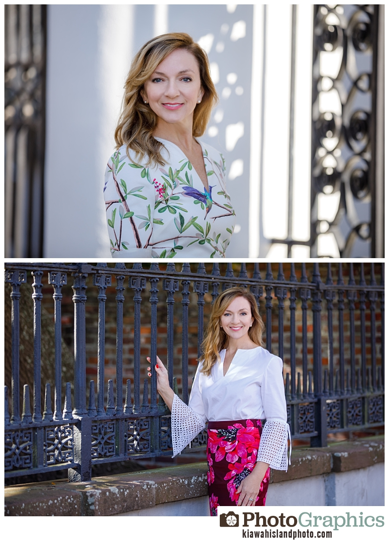 women in downtown Charleston, South Carolina. professional commercial photography Charleston