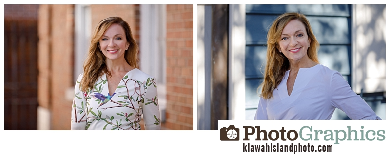 women in downtown Charleston for professional portraits and headshots, commercial photography Charleston
