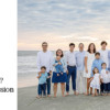 Large family at the beach at sunset for family photos on Kiawah - what happens next.