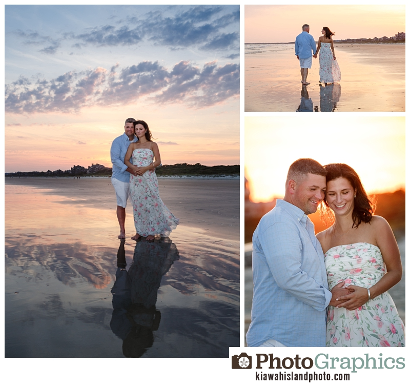 maternity photo session at the beach on Kiawah Island - couple photography South Carolina
