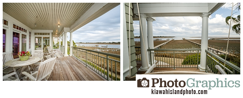 Balcony photos for real estate photography on Kiawah Island, South Carolina