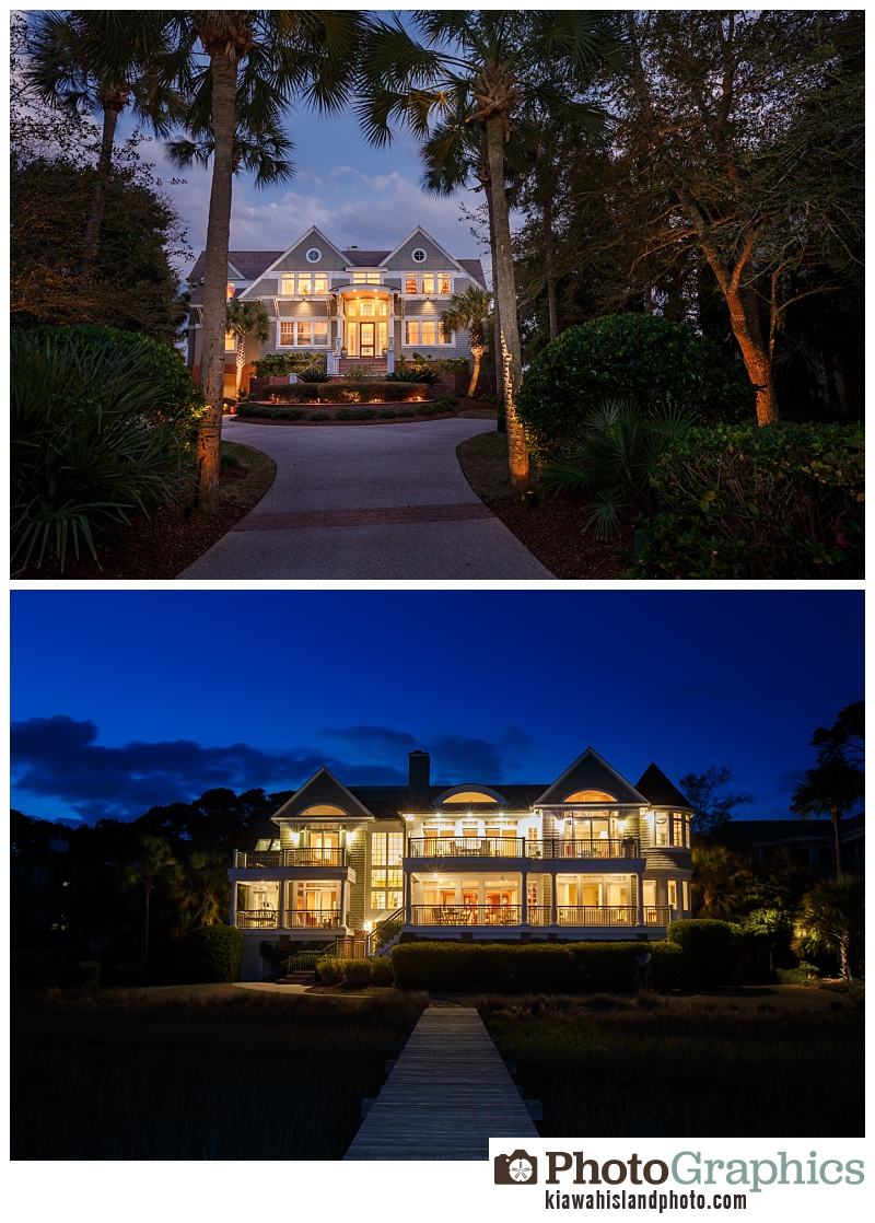 Twilight photos on Kiawah Island, South Carolina - real estate photos