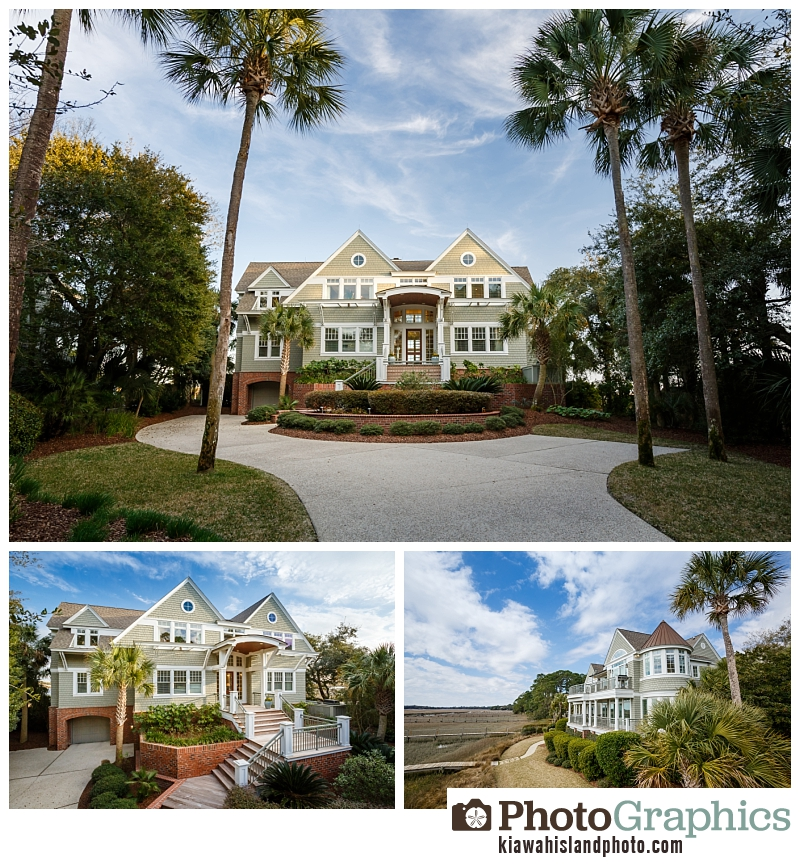 Home exterior photos on Kiawah Island - real estate photography
