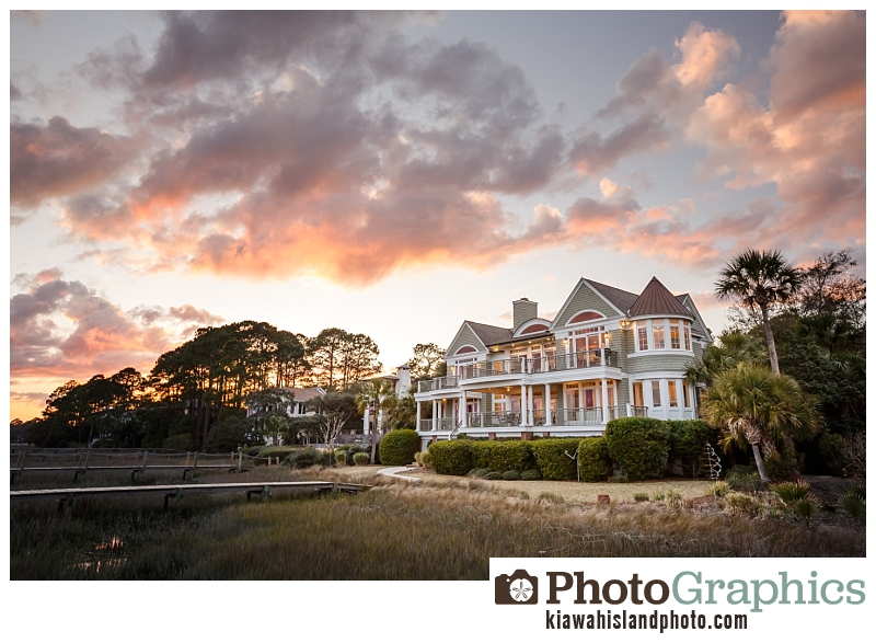 Sunset real estate photography on Kiawah Island, South Carolina