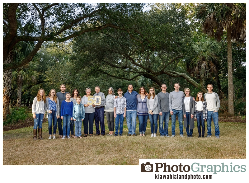 Large group family photos for 50th Anniversary - Kiawah Island Photo