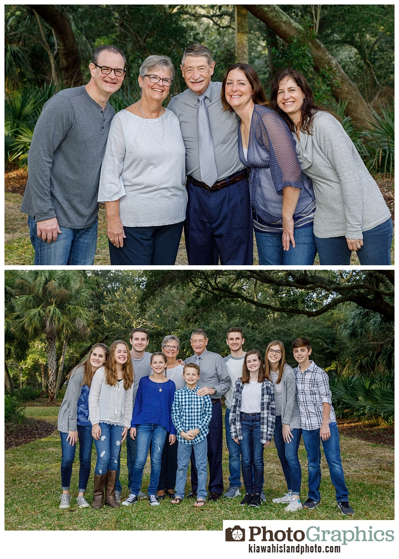 Grandparents and children, grandparents and grandchildren Kiawah Island Family Photos