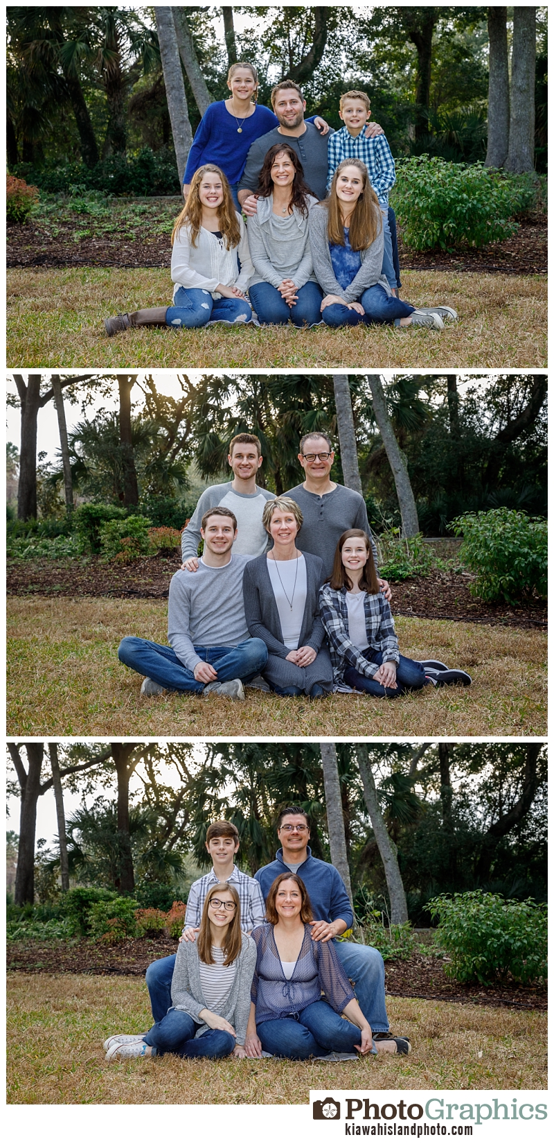 Family for portraits on Kiawah Island South Carolina