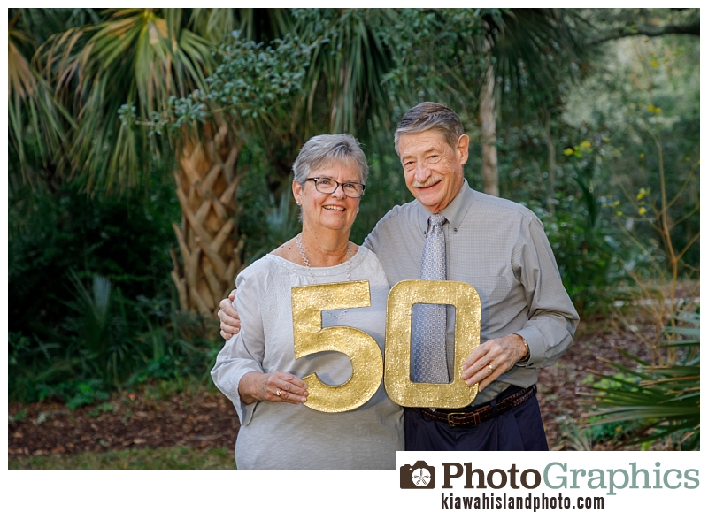 50 Anniversary on Kiawah Island, South Carolina - family portraits
