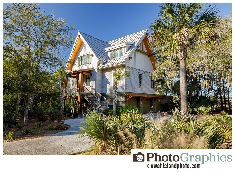 Architectural photography on Kiawah Island - front of home