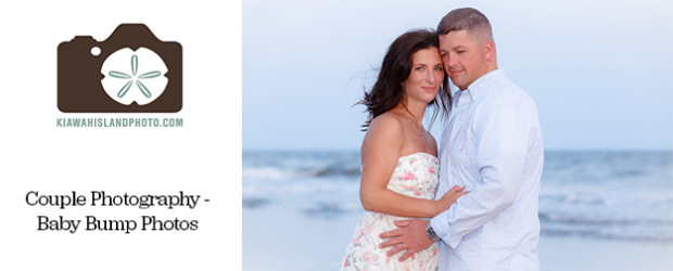 Couple photography on Kiawah Island, South Carolina for baby bump photos