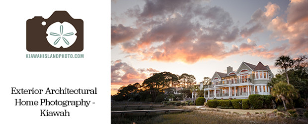 Exterior photos of a home on Kiawah Island at sunset - Real Estate / Architectural photography