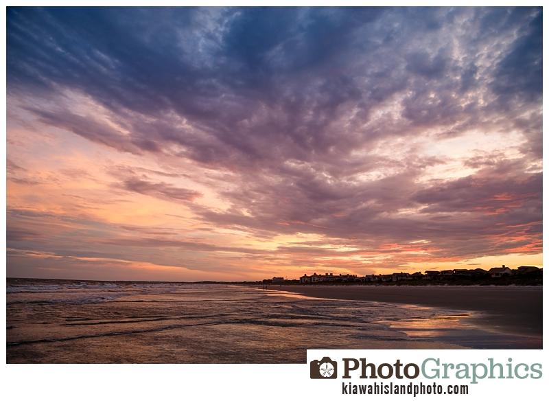 Sunset on the beach at Kiawah Island