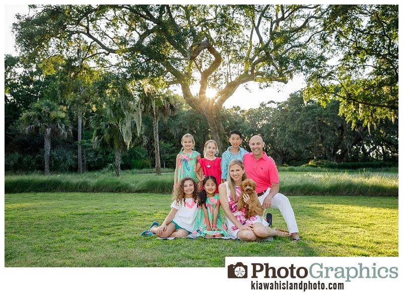 Family Portraits on Kiawah Island at The Ocean Park near The Ocean Course