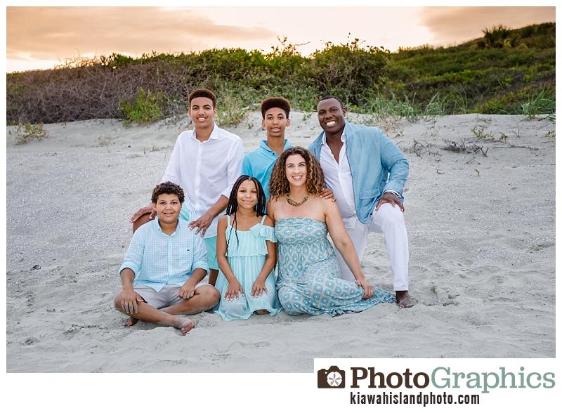 Family portraits on Kiawah Island at the beach near Kiawah Island Golf Resort