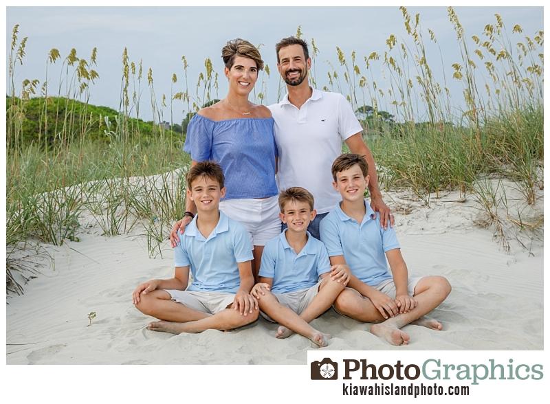 Family Portraits on Kiawah Island at Duneside Drive on the beach