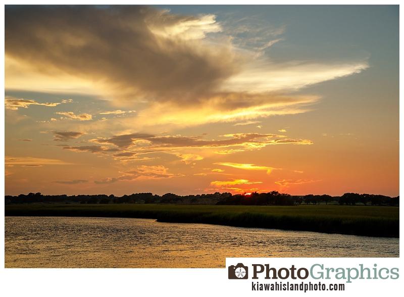 Sunset at Mingo Point on Kiawah Island, South Carolina