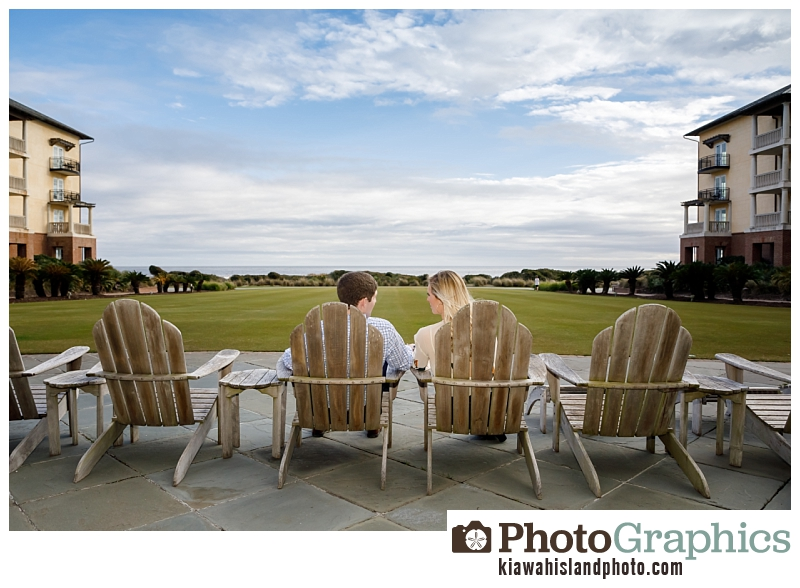 Couple sitting in chairs at The Sanctuary Resort on Kiawah Island, South Carolina