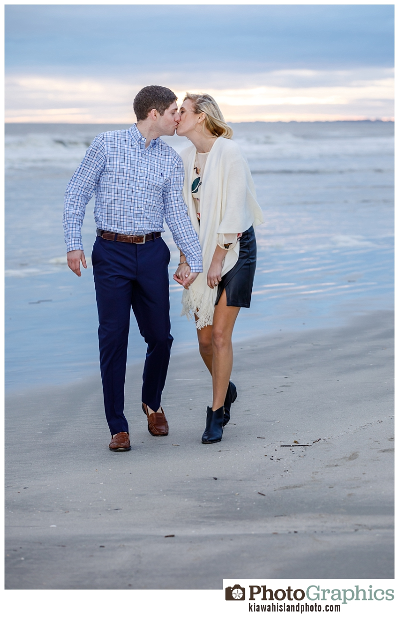 Couple walking on the beach on Kiawah Island - couple photography Kiawah Island