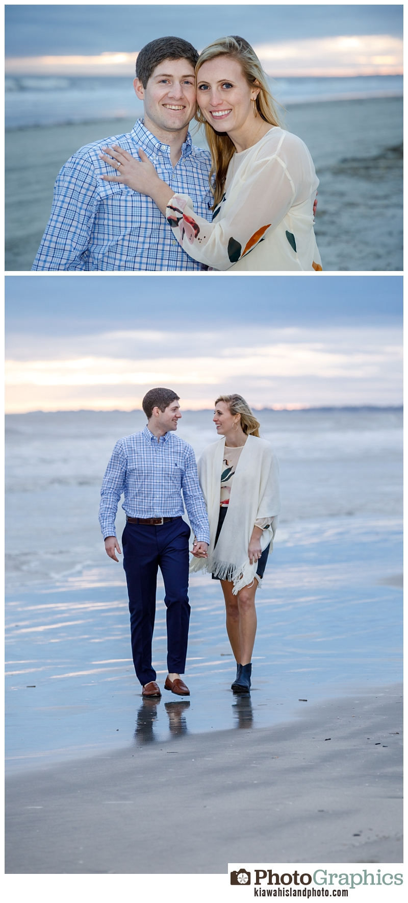 Couple walking on the beach on Kiawah Island - couple photography Charleston, South Carolina